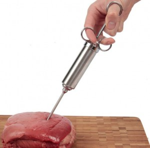 Mr Grill 2 Ounce Stainless Steel Meat Marinade Injector