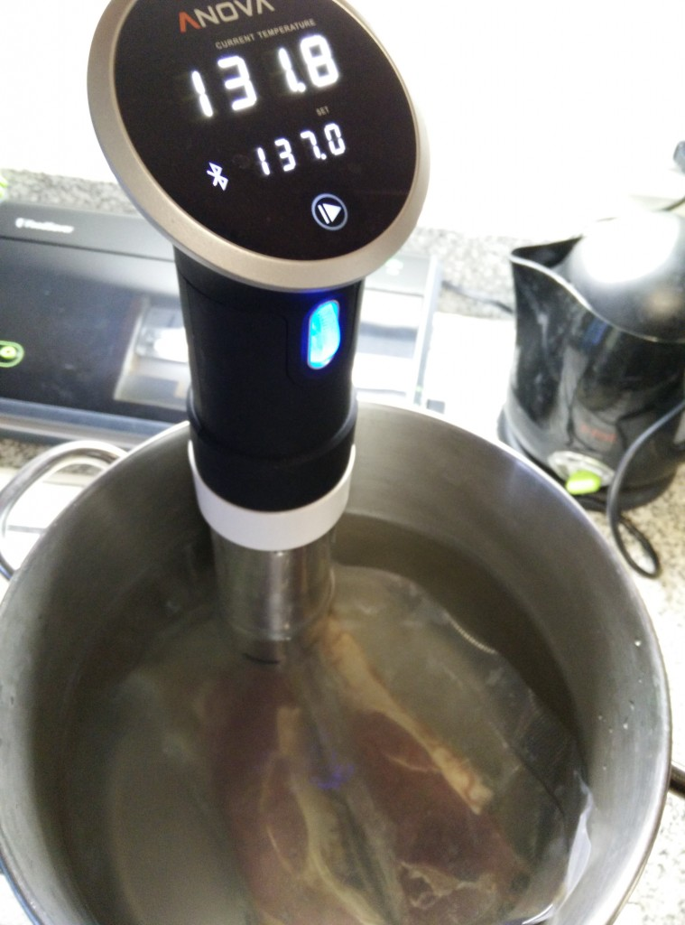 Steaks sous vide 137 degrees.